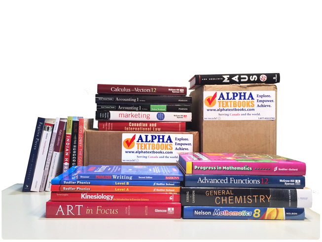 Alpha Textbooks Books and Boxes